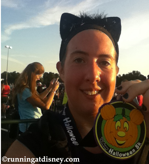 2011 Halloween 5K...red faced and proud!
