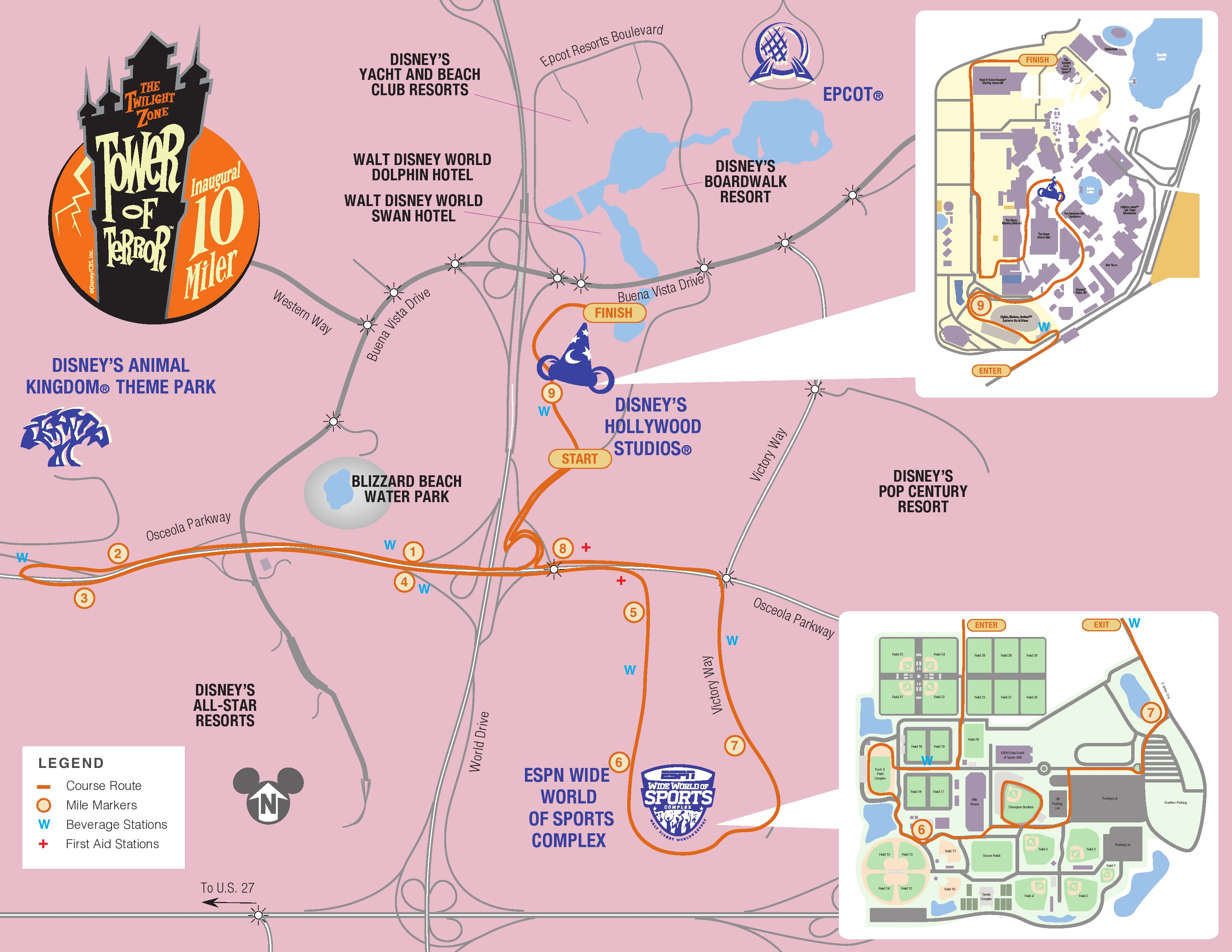 Twilight Zone Tower of Terror 10-Miler – The Map