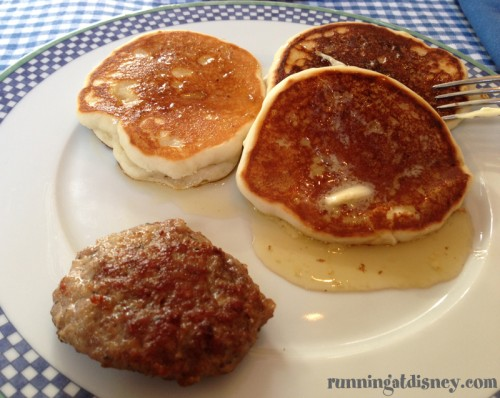 Christmas Morning BreakfastGluten Free, Egg Free Pancakes and Local CT Sausage