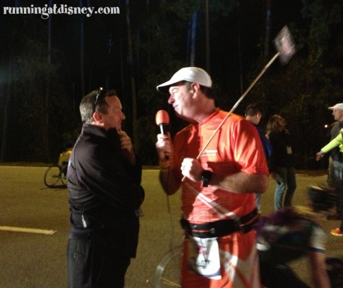 Marathon Joe interviewing Bob Hitchcock of runDisney