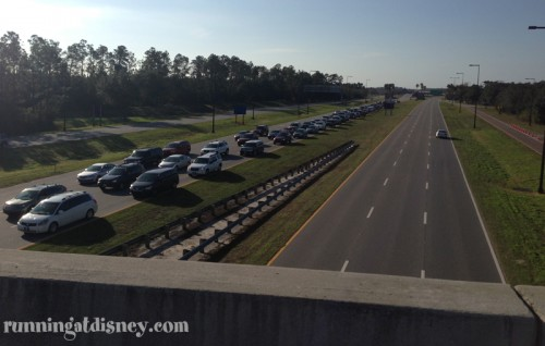 Traffic on World Drive from Osceola Parkway
