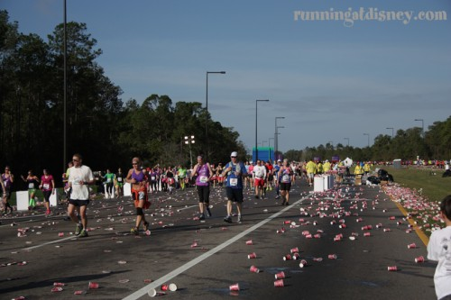 Mile 17 Water Stop...cups, cups and more cups!