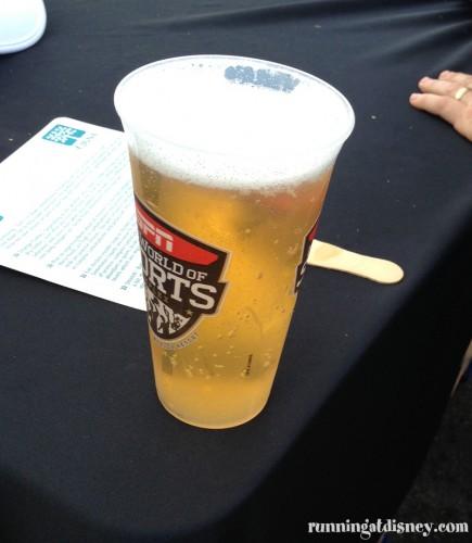 Post race beer...hellz yeah!