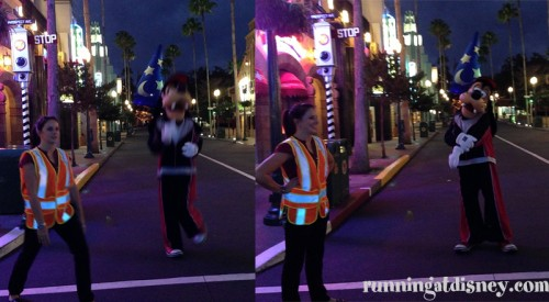 Goofy's Warming Up for the Run