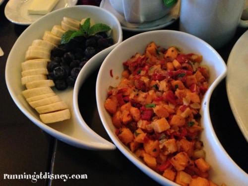 Sweet Potato Hash & Fruit