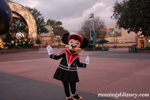 Minnie still looks fancy in her running gear