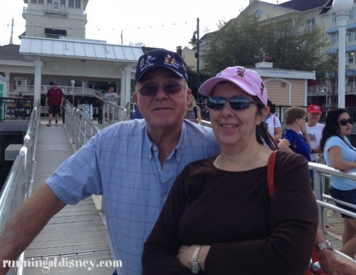 Mom & R waiting for the boat to Epcot :)
