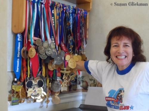 Susan Glickman --Disney Marathon Medals