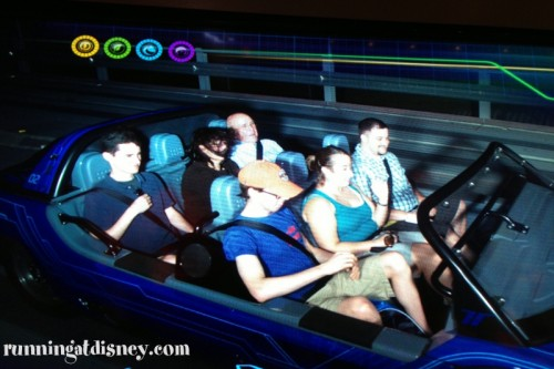 Test Track...look at Mom's hair!