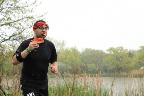 You mean I can't just eat pizza during a marathon like this dude????