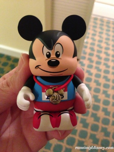 New runDisney Vinylmation with 20th Anniversary Marathon Medal!