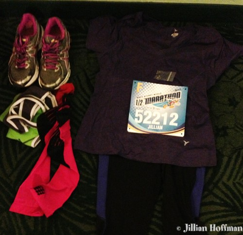 Race clothes ready to go