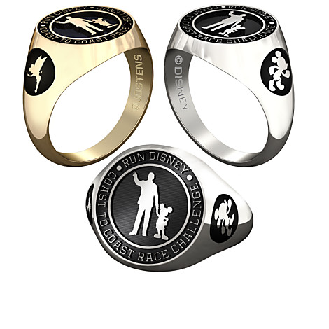 Mickey Mouse & Walt Disney (Coast to Coast) runDisney Ring Available for Men & Women