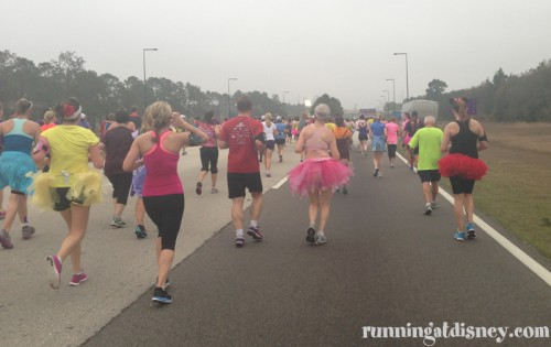 Awesome lady in the pink tutu and I think Greg is up ahead in one of those yellow shirts ;)