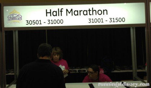Getting my bib!