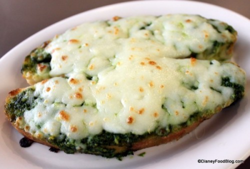 Cheesy Pesto Bread Photo Source: Disney Food Blog