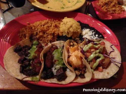 Grande Taco Platter at Maya Grill