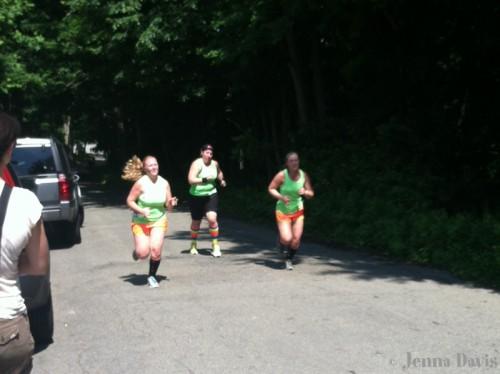 At the finish!