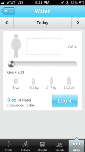 Water Tracker Phone App