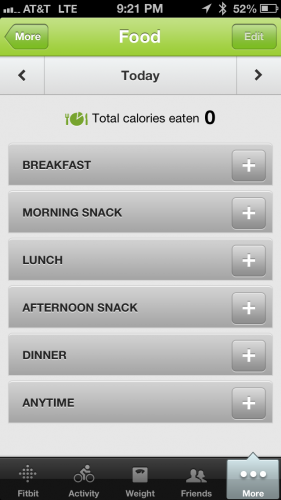 Food Tracker Phone App