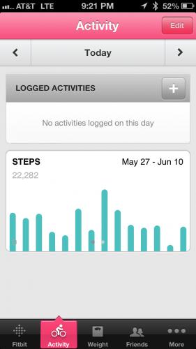 Activities/Steps Phone App