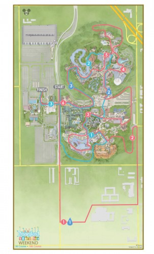 Disneyland 10K and 5K Course Map