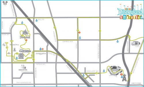 Disneyland Half Marathon Course Map