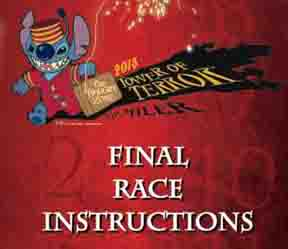Final Race Instructions for the 2013 Twilight Zone Tower of Terror 10-Miler
