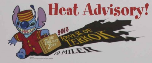 Heat Advisory for The Twilight Zone Tower of Terror 10-Miler