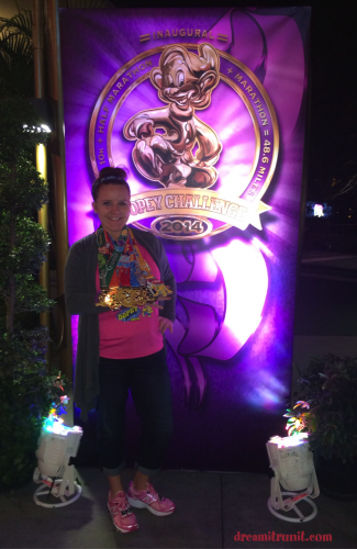 My 6 beautiful Dopey Challenge medals. Love runDisney medals!
