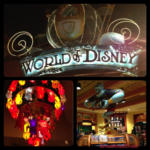 Shopping at World of Disney and D Street