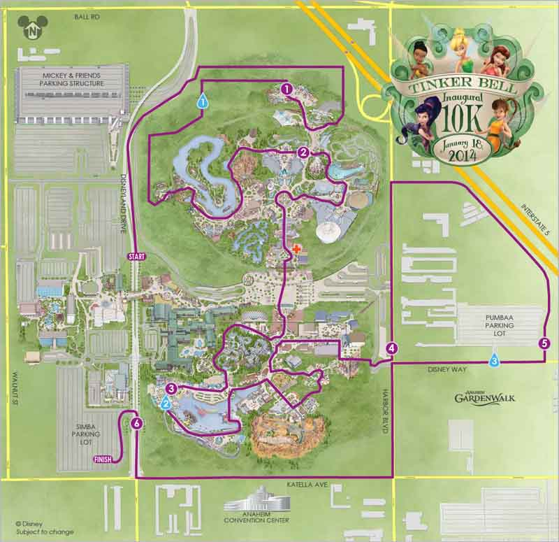2014 tinker bell half marathon weekend course maps and corral