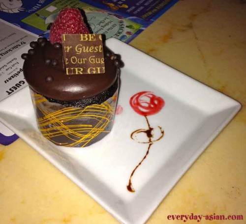 Chocolate Cupcake Be Our Guest Restaurant