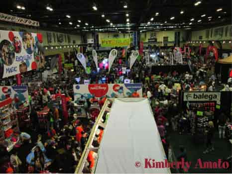 View from the top floor looking down to the Expo floor