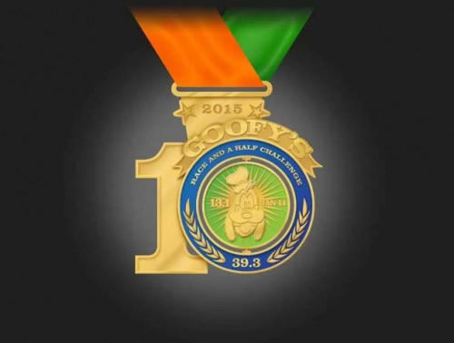 2015-Goofy-Race-and-a-Half-Challenge-Medal-10th-Anniversary-Front
