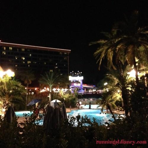 Disneyland-Love-Disneyland-Hotel-Nighttime-Pool