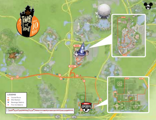 2014-Twilight-Zone-Tower-of-Terror-10-Miler-Course-Map