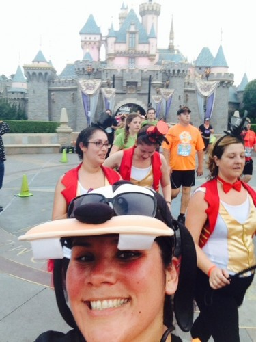 me and castle-2014-Disneyland-Half-Marathon
