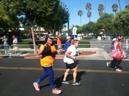 running to finish-2014-Disneyland-Half-Marathon