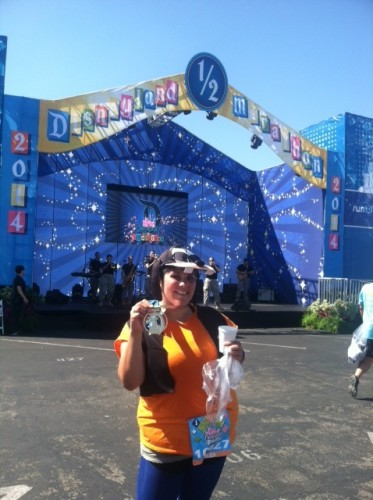 with medal-2014-Disneyland-Half-Marathon