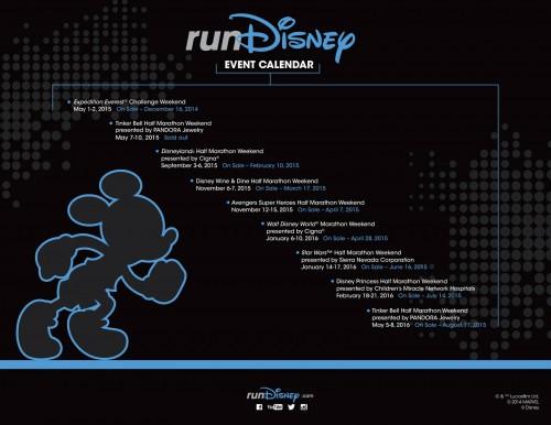 2015-16 runDisney Calendar