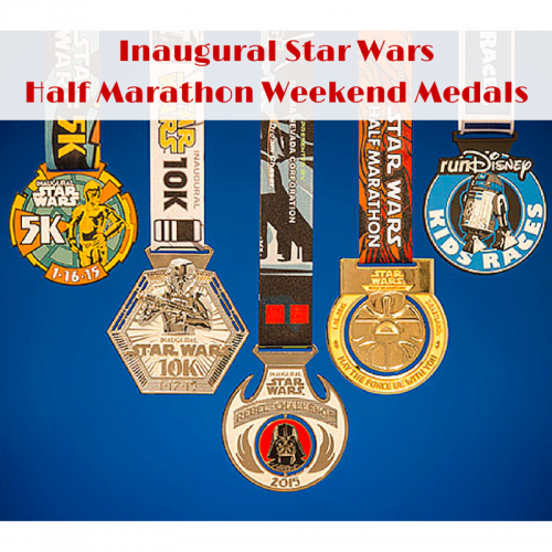 Inaugural Star WarsHalf Marathon Weekend Medals
