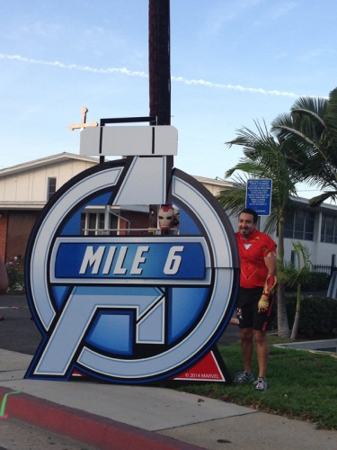 Mile 6 marker missing its clock. Funnily enough this was one of the less destroyed mile markers!