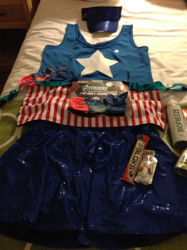 Flat Ashleigh/Captain America. I think I saw about 3000 Captain Americas racing!
