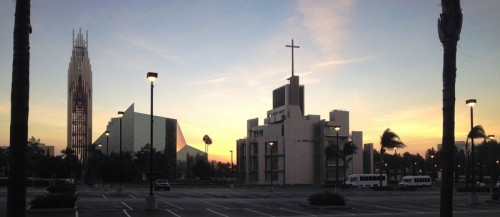 Sunrise at Starfleet Headquarters, aka, Christ Cathedral