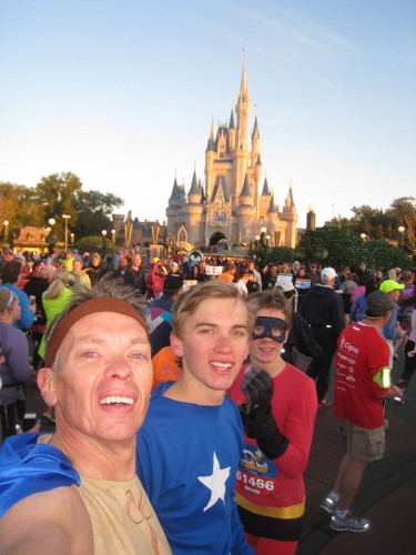 Sharing my sons first official half marathons was a great feeling for a Dad!