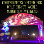 Contributors Needed for Walt Disney World Marathon Weekend!