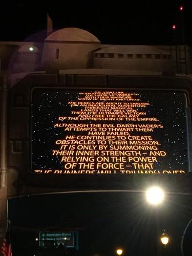 Every race had a slightly different opening crawl but I wasn't close enough to read the one for the half marathon.