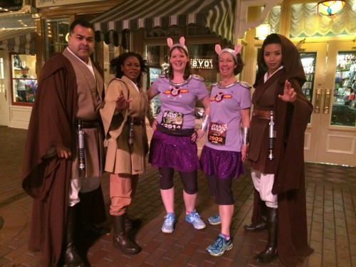 Jedi were stationed in numerous places along the course for both the 10K and Half, encouraging the runners.