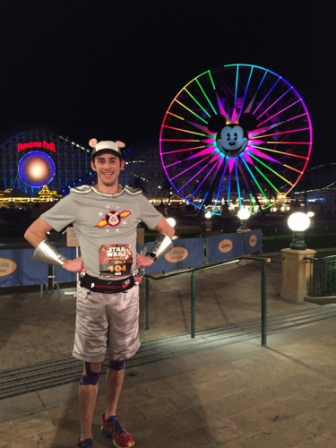 Mickey's Fun Wheel dominates the view at Paradise Pier and looked amazing at night.